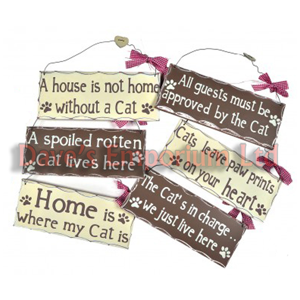 Quote Plaques: Funny Humorous Cats Sayings