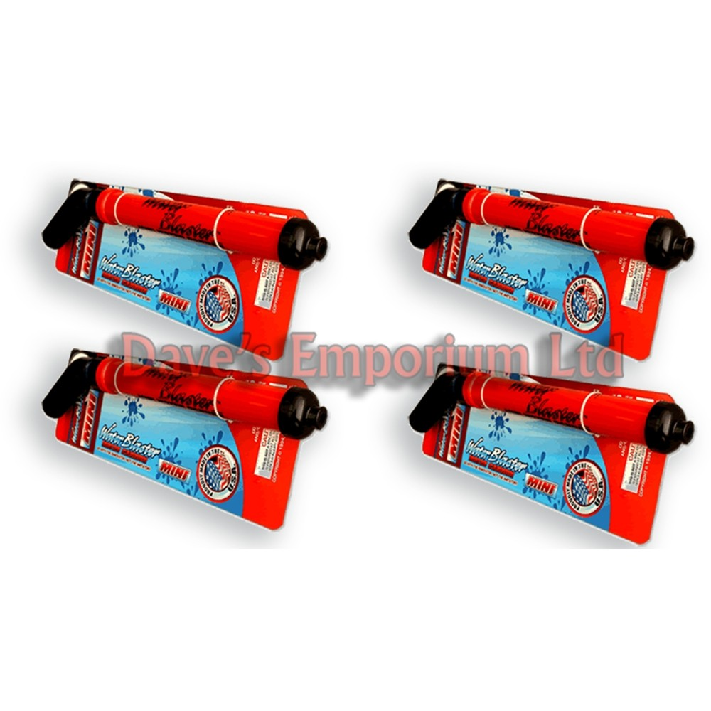 Water Blaster MINI Quad Pack - Soaker Cannon - 4 MINIs - Family Deal