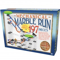 197 Piece Mechanical Marble Run - House of Marbles - Large Giant Game Jump Races