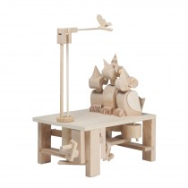 Timberkits Chirpy Chicks - Wooden Moving Model Self Assembly Construction Gift