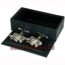Dragons Head Cufflinks - Gift Boxed - Chinese New Year