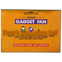 Gadget Fan Metal Sign - Ministry of Chaps by Harvey Makin - Funny Plaque