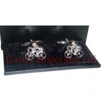 Racing Bike and Rider Cufflinks - Gift Boxed - Cyclist Cycle Bicycle Race Gift