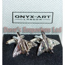 Mighty Vulcan Bomber Cufflinks by Onyx Art